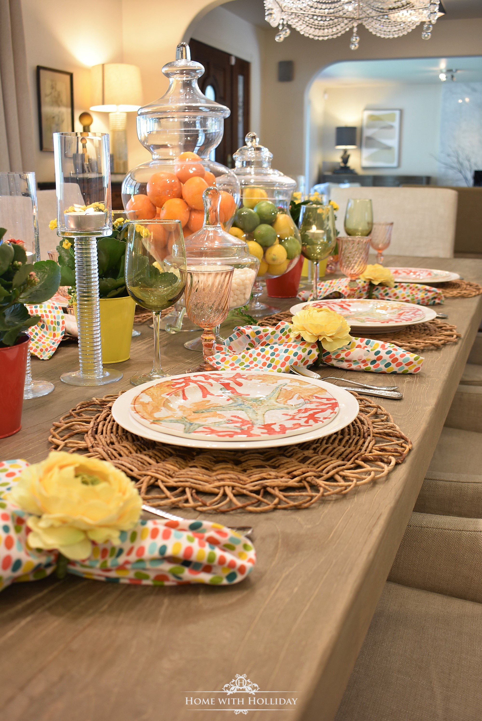 This past weekend we celebrated our daughteru0027s 16th birthday. It has been my dream for all of her life to throw her a huge u201cSweet 16u201d party when the time ... & Creating a Simple Tropical Summer Table Setting - Home with Holliday